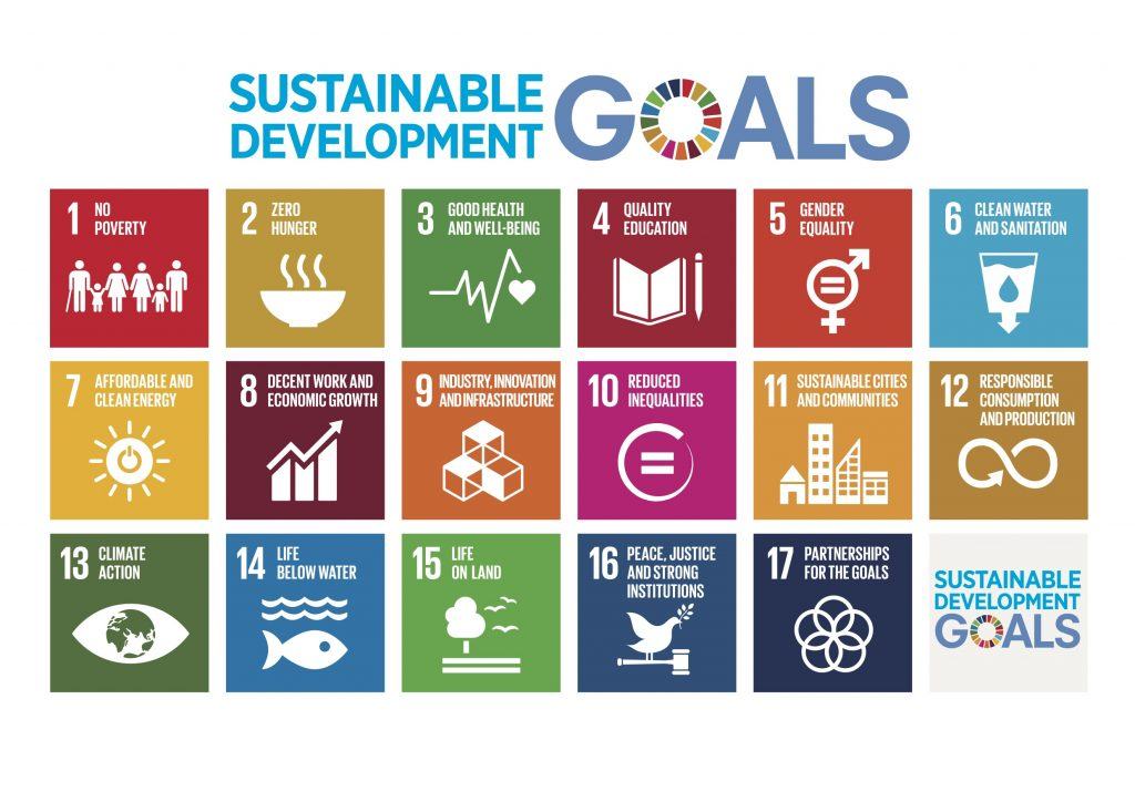 Image of the 17 sustainable development goals